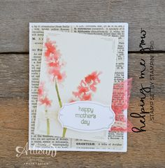 No Line Watercolor technique using the Helping Me Grow stamp set from Stampin' Up! by Krista Frattin