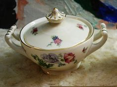 1950's Czech Baronet Creamer and Sugar Holder Bohemian  Perfect! by ourPastourFuture on Etsy