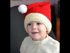 Вязание спицами  Шапка колпак Santa Claus - YouTube