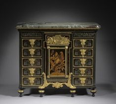 André-Charles Boulle (French, 1642-1723), Ebony Cabinet, c. 1690