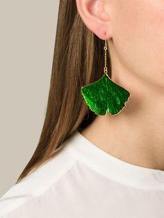 Aurelie Bidermann Ginkgo Earrings - Uzerai - Farfetch.com