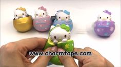 Hello Kitty Egg Squishy - Green Flower by Sanrio