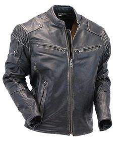 Men's Ultimate Vintage Gray Racer Vented Stretch Motorcycle Jacket w/Gun Pockets Best Leather Jackets, Men's Leather Jacket, Leather Men, Motorcycle Jeans, Biker Gear, Bad Boy Style, Super Hero Outfits, Types Of Jackets, Mens Gloves