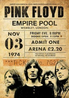 Discover recipes, home ideas, style inspiration and other ideas to try. Rock Vintage, Retro Vintage, Arte Pink Floyd, Pink Floyd Live, Rock Posters, Concert Rock, Vintage Concert Posters, Art Graphique, Metallica