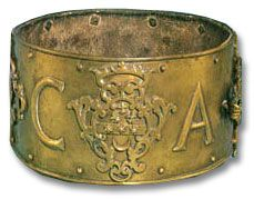 Not for humans - but interesting idea. Brass collar for dogs, from the Dog Collar Museum at Leeds Castle.