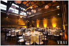OBSESSED with this venue....Ravenswood Event Center, Chicago. Classy, romantic, industrial.