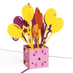 Balloon Bouquet Birthday pop up card