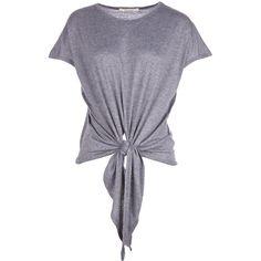 Denim Tie Front T Shirt