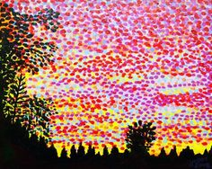 'Bromarf Sunset' painting with a little motion. . . #paintingsinmotion #animatedart #colorful #creativemarket #dots #artoninsta #artistoninsta #picaloop #sunset #finland #bromarf #bromarfsunset #trees #hoganart #silhouette #konst #taide #sky #evening #hoganfinland #raseborgplace2go #psychadelic #skyscape #raseborg #art #creatives #hogan #peintre #hoganartgarage #artistlife