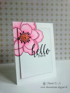 The Creative Corner: Hello card (Altenew's Halftone Hello) with Mondo Magnolia (Ellen Hutson)