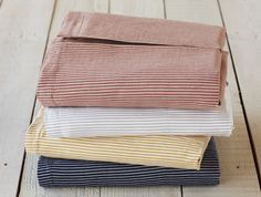 Mini Stripe Cotton & Linen Crib Skirt