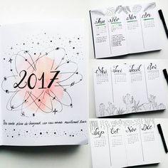 "Polubienia: 160, komentarze: 11 – Virginie (@french_dreamer_life_lover) na Instagramie: ""Comment bien ""démarrer"" l'année ? Être organisé grâce à son bujo  #2017 #calendrier #calendex…"""