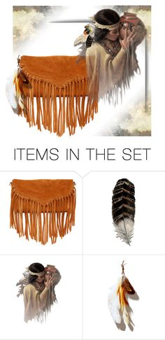 """""""Fringed and Feathered"""" by elsiemarley22 ❤ liked on Polyvore featuring art"""