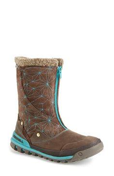 Merrell  Silversun  Waterproof Boot suede leather wool bracken turquoise 1ea2b4b0796