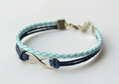 Sliver Infinity Bracelet - Blue and Blue.  Own it!!  Love it!! :-)