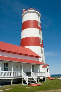 Pointe des Monts lighthouse [1830 - Baie Trinité, Québec, Canada]