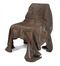 Embroidered Natural Specter by Josh Urso: Fiber Chair available at www.artfulhome.com