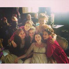Lily James - Lizzie Bennet - Elizabeth Bennet - Mary Bennet - Camilla Brady - Millie Brady - Jane Bennet - Bella Heathcote - Kitty Bennet - Suki Waterhouse - Lydia Bennet - Ellie Bamber - Mrs. Bennet - Sally Phillips - Pride and Prejudice and Zombies - behind the scenes