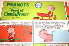 Charlie Brown comic strip Lunch Note from Mom by ClassicVintageAds, $10.00