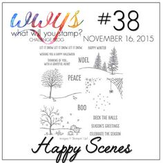 2015 What Will You Stamp?: WWYS Challenge #38 // Happy Scenes. Happy Scenes Photopolymer Stamp Set139821  $21.00 Happy Scenes Photopolymer Bundle 140853  $34.75,  Hearth & Home Thinlits Dies139666  $20.00