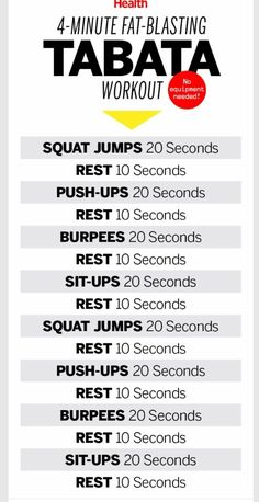 4 Min Tabata Workout | Posted By: CustomWeightLossProgram.com