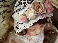Ribbon  roses and bobbin lace!