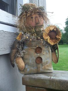 Sweet OOAK Handmade Scarecrow Fall | eBay