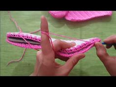 Emelce Terlik Yapımı - YouTube Crochet Sandals, Crochet Shoes, Crochet Slippers, Crochet Clothes, Fancy Bows, Shoe Crafts, Shoe Pattern, Square Patterns, Homemade Jewelry