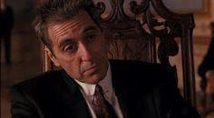 """Al Pacino em O PODEROSO CHEFÃO 3 (The Godfather, part III). 1-""""Nunca odeie seus inimigos. Isso afeta o seu julgamento"""", 2-""""Política é saber a hora de puxar o gatilho."""""""