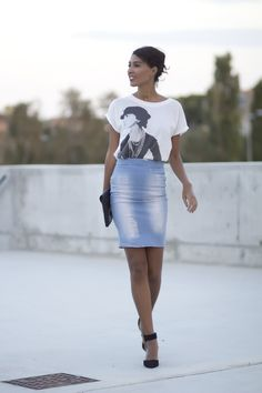 Denim+pencil+skirt+street+style+2.jpg (640×960)