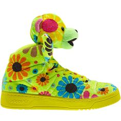 Jeremy Scott x Adidas Originals new shoes.  See even more at nylonmag.com