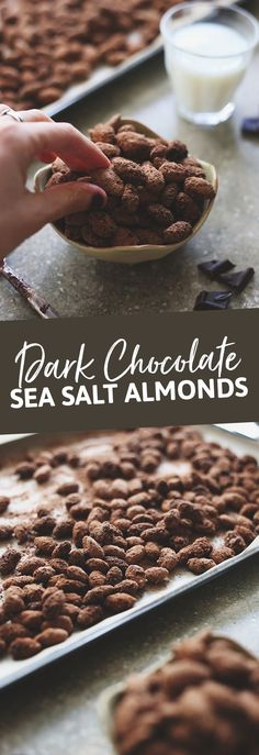 Have you ever tried the Trader Joe's Dark Chocolate Sea Salt Almonds? They're unbelievably addictive, and I've just made your obsession worse by sharing the recipe so you can make them at home!