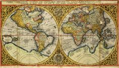 World map by Petrus Plancius, 1590   Bijzondere Collecties Old Maps, Antique Maps, Vintage World Maps, All World Map, Orbis, Weird Art, 16th Century, Diy Painting, Canvas Prints