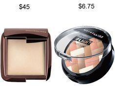 Try Maybelline Master Hi-Light Studio Bronzer in place of Hourglass Ambient Lighting Powder and save about $38. | 19 Insanely Good Makeup Dupes That Will Save You Tons Of Money