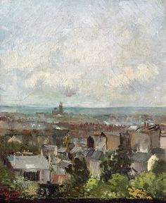 amare-habeo: Vincent van Gogh (Dutch, 1853-1890) View over the roof of Paris, 1886 Oil on canvas