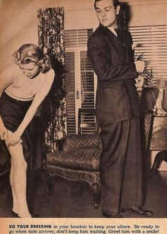 """Tips for Single Women - 1938. """"Don't look bored even when you are.""""; """" For when a man wants to dance, he wants to dance"""""""