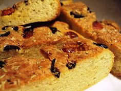 LCHF-bloggen: Focaccia Lchf, Low Carb Recipes, Banana Bread, Food And Drink, Desserts, Blogging, Low Carb, Tailgate Desserts, Deserts