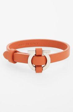 Salvatore Ferragamo Leather Bracelet available at #Nordstrom