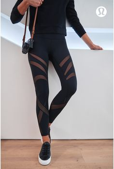 Turn heads wherever you go in mesh detailed tights.   lululemon