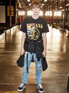 Men's Printed & Patterned T-Shirts Gene Gallagher, Lennon Gallagher, Vera Wang Bridal, Balenciaga Spring, Hunks Men, Britpop, Street Wear, Menswear, Street Style