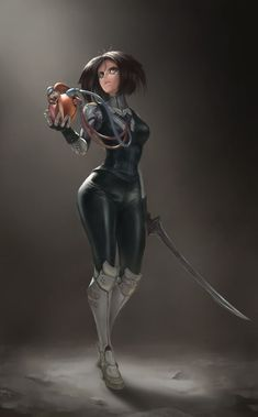 Alita: Battle Angel is a movie starring Rosa Salazar, Christoph Waltz, and Jennifer Connelly. A deactivated female cyborg is revived, but cannot remember anything of her past life and goes on a quest to find out who she is. Fantasy Characters, Female Characters, Anime Characters, Cyberpunk Character, Cyberpunk Art, Female Cyborg, Female Art, Fantasy Warrior, Fantasy Girl