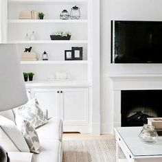 Living Room Built Ins, Transitional, living room, Lux Decor