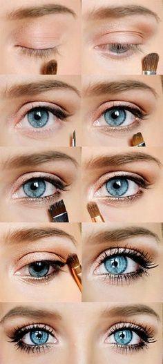 Soft eye makeup looks.