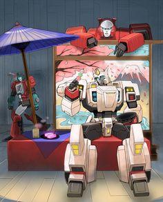 Drift enjoying an Asian moment XD Transformers Generation 1, Transformers Funny, Transformers Characters, Yamata No Orochi, Robot Art, Samurai, Art Pieces, Geek Stuff, Knights