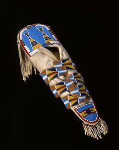 Crow (Montana), Toy Cradleboard, beads/leather/wood, c. 1930? via http://lastrealindians.tumblr.com/