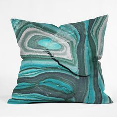 Lisa Argyropoulos Stony Aqua Blue Outdoor Throw Pillow | Deny Designs