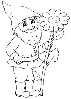 printable gnome coloring pages - Garden Gnome Coloring Pages