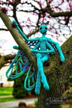 Crafty Intentions — Spring Mushroom Pixies Crochet Fairy, Crochet Dragon, Love Crochet, Crochet Dolls, Knit Crochet, Crochet Things, Amigurumi Patterns, Crochet Patterns, Crochet Monsters