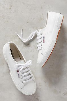 superga low-top leather sneakers