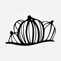 Pumpkins SVG / Pumpkins Digital Download / Pumpkins Doodle / Pumpkins Cut Files Silhouette Studio Designer Edition, Pumpkins, Doodles, Artsy, Image, Pumpkin, Butternut Squash, Squash, Donut Tower